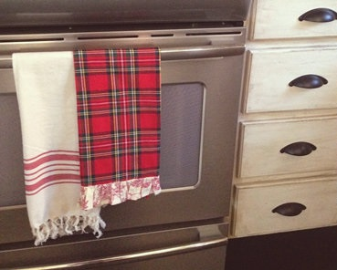 Cover Up A Dirty Oven Door With Towels