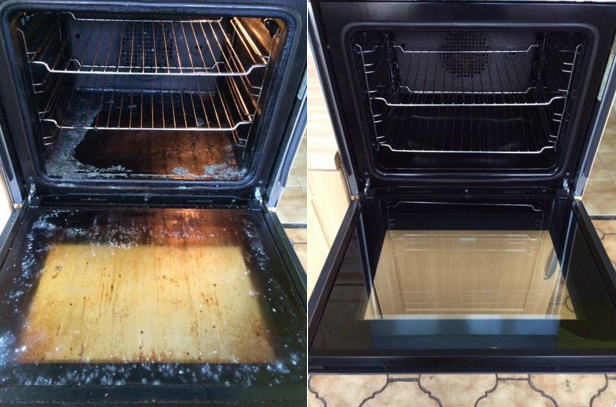 Before and after Ovenclean photos