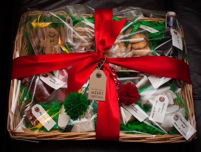 Christmas food gift baskets homemade