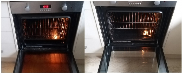 Ovenclean George Forbes before and after