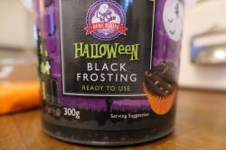Halloween black frosting