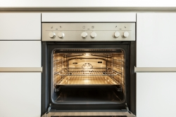 Inside a clean oven