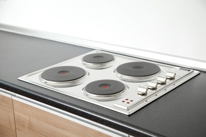 electric stove in kitchen, closeup