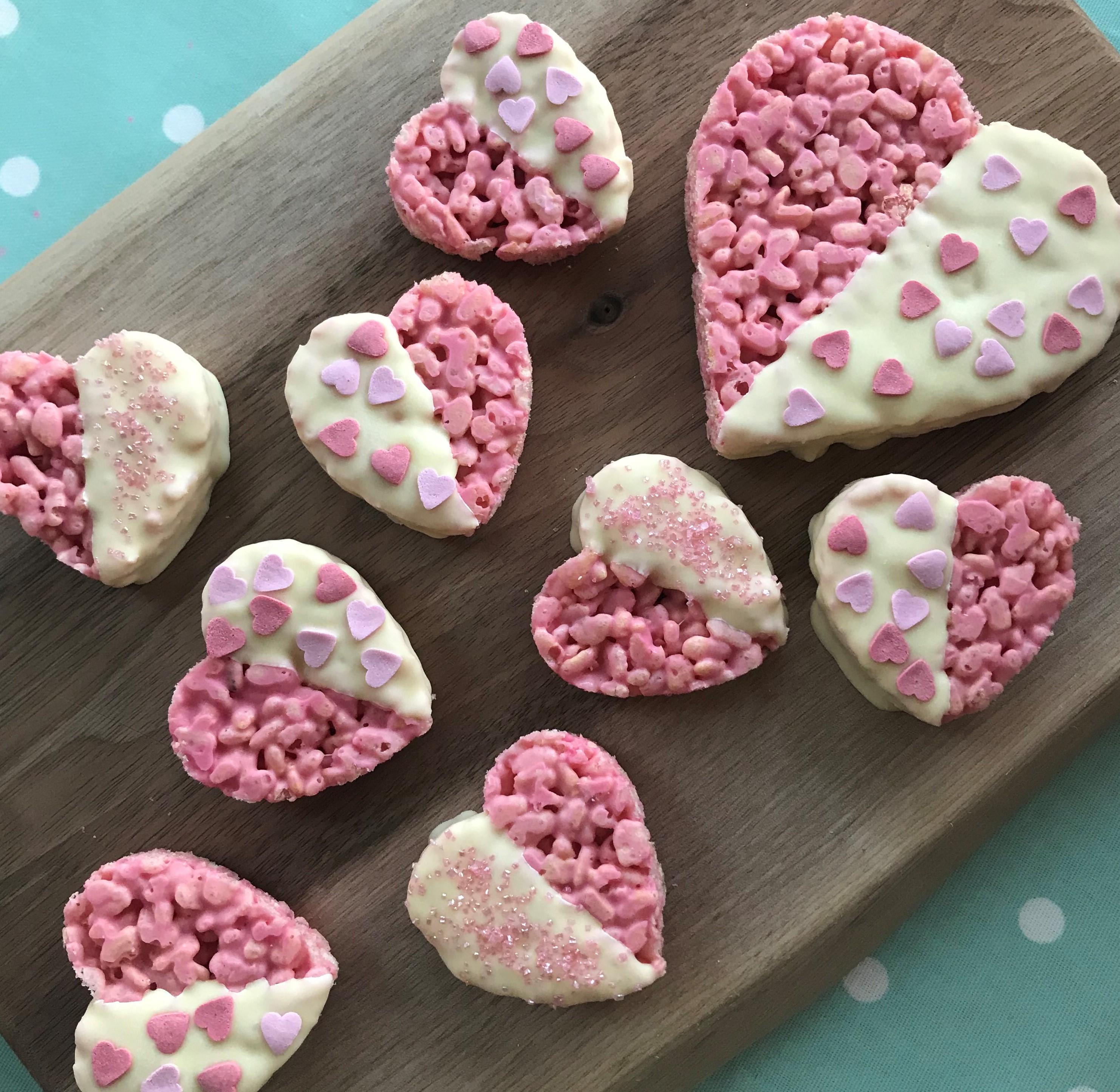 Valentine's Rice Crispy Hearts | Ovenclean Blog
