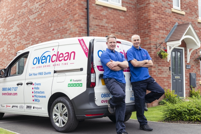Two ovenclean specialists near van